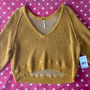 Mustard Crop Sweater
